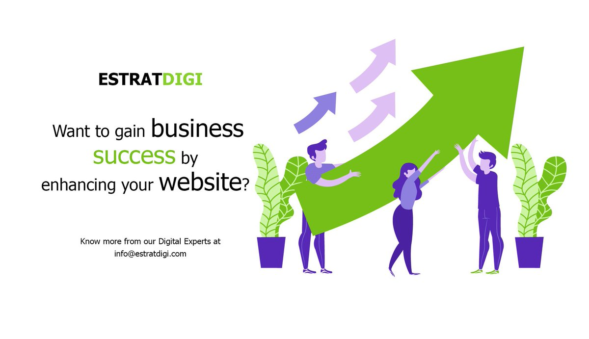 Want to gain business success by enhancing your website?  Know more from our #digitalexperts at  https:// estratdigi.com      #businesssuccess #websitedesigns #webmarketingstrategy #webmarketing #businessneeds #business #websitepromotion #estratdigi #KyaPlanHai<br>http://pic.twitter.com/eTLPVXy7G2