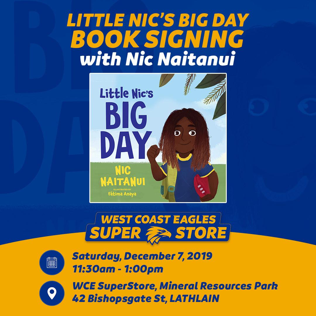 REMINDER! @NicNat will be in store Saturday!