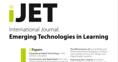Vol 14, Nº 21 (2019) International Journal of Emerging Technologies in Learning (iJET)  #elearning #ICT #TIC #mlearning #tecnología #tech #technology #teaching #escuela #school #digitalTransformation #pedagogy #pedagogía #curriculum #eportfolio