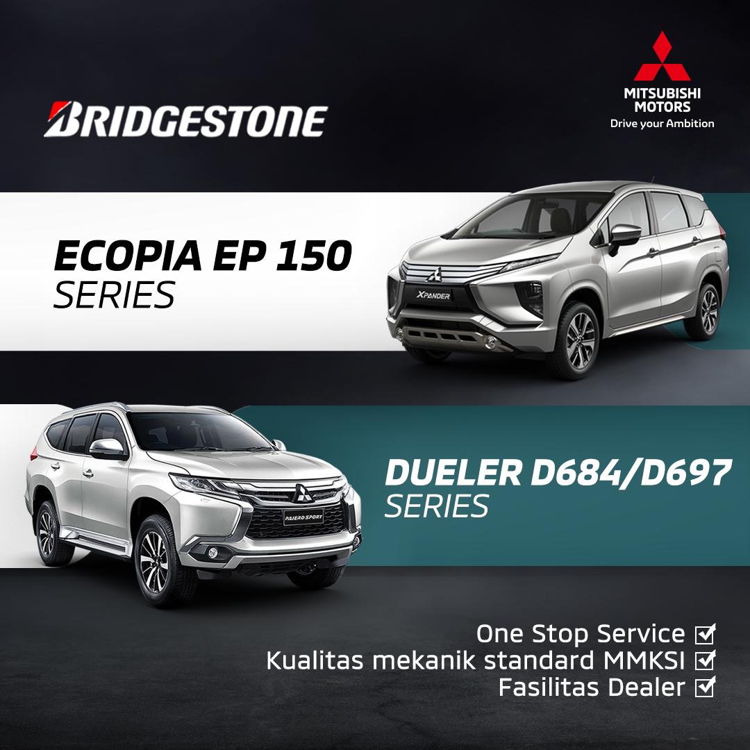 Kunjungi bengkel resmi Mitsubishi Motors untuk dapatkan layanan One Stop Service khusus pergantian ban Bridgestone Ecopia EP 150 Series Xpander dan Dueler D684/D679 Series Pajero Sport. Cek langsung di sini   #MitsubishiMotors