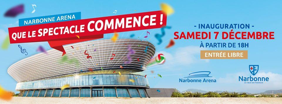 Le @narbonnevolley @LNVofficiel  sera présent à l'inauguration de #Arena...