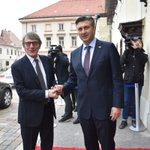 Image for the Tweet beginning: S predsjednikom @Europarl_EN Davidom Sassolijem