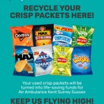 Pupils are still collecting empty crisp packets in aid of Air Ambulance Kent Surrey Sussex.  Please send your empty packets our way! #recycle #environmentalism #roundsquare #thinkdifferently #thinkdovercollege
