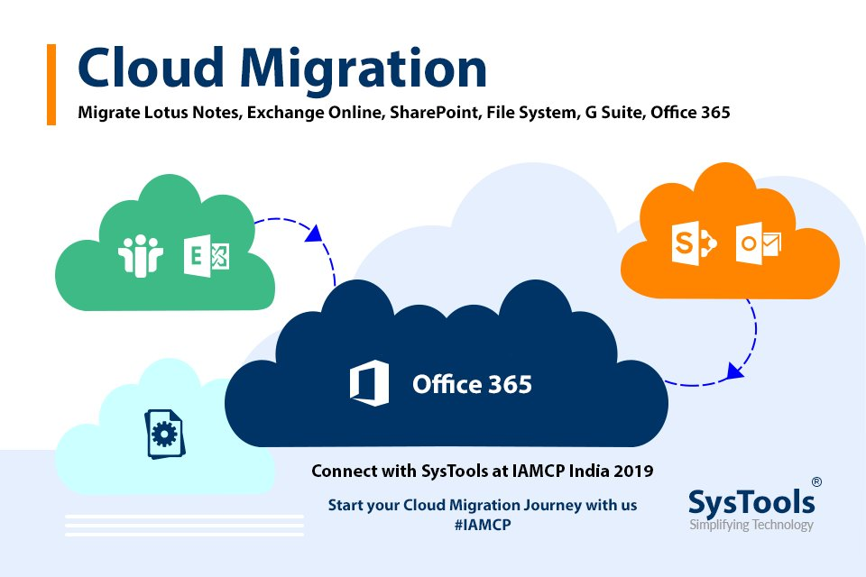 Start your Cloud Migration journey with us. #SysTools #IAMCP #IAMCPIndia #Office365 #Microsoft #CloudMigration<br>http://pic.twitter.com/39q4nbw8O5