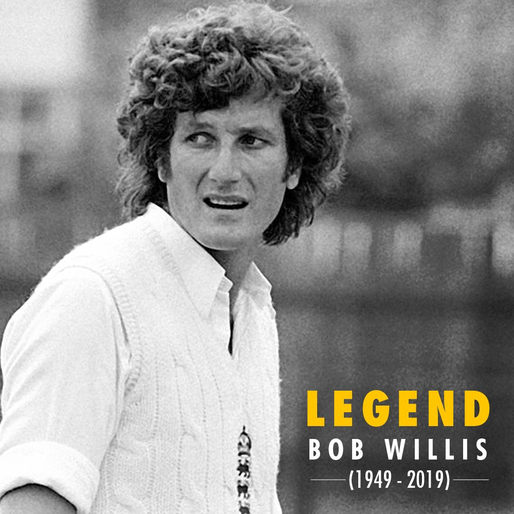 Replying to @KKRiders: May you rest in peace, Bob Willis.