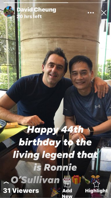 Happy 44th Birthday to the living legend Ronnie O Sullivan, wish good health and happiness