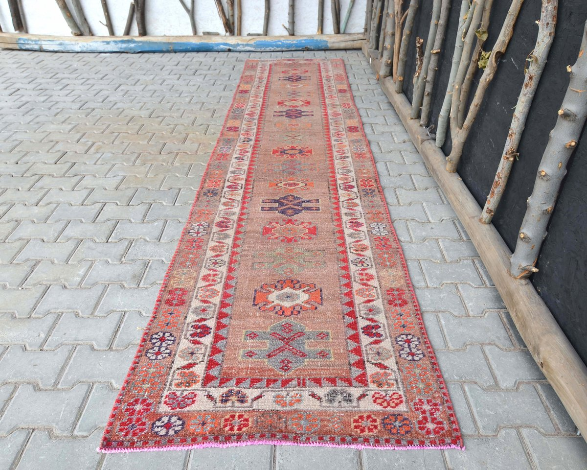 Excited to share the latest addition to my #etsy shop: 2'8x12'4 ft, RARE DESIGN, TURKISH Runner Rug, Farmhouse Rug, Vintage Rug, Rug Runner, Wool Rug, Vintage Rug, Handmade Rug, Rugs, Tribal Rug  #housewares #pink #cotton #runner #bohemianeclecti