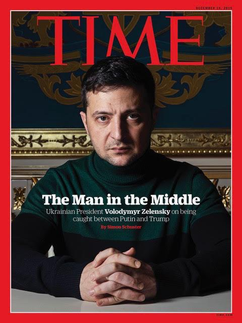 """The entire time you've spent talking about this, we've had people dying in the war out east.""  Crucial perspective from Ukraine is this week's international @TIME cover, by my indomitable colleague @shustry, who interviewed Zelensky and many others.   https://time.com/5744403/zelensky-impeachment-trump/ …"