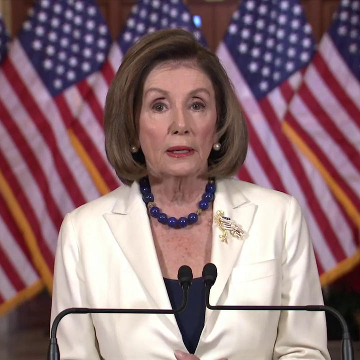 "Speaker Nancy Pelosi: ""The facts are uncontested: the president abused his power for his own personal political benefit at the expense of our national security."""