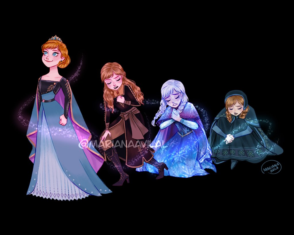 So I'll walk through this night, stumbling blindly toward the light  #Frozen2  #frozen2spoilers #QueenAnna <br>http://pic.twitter.com/ZES9MD1slo