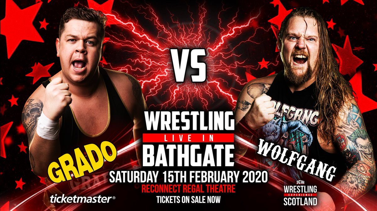 .@WresExpScotland #WXSBathgate tickets on sale now! See ICW World Champion @stevieboyxavier, @gradowrestling, @GlasgowJester, @WolfgangYoung and more on 15 February at @BathgateRegal. http://bit.ly/WXSBathgate