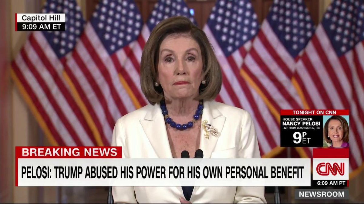 """Pelosi: """"Today, I am asking our chairman to proceed with articles of impeachment."""""""