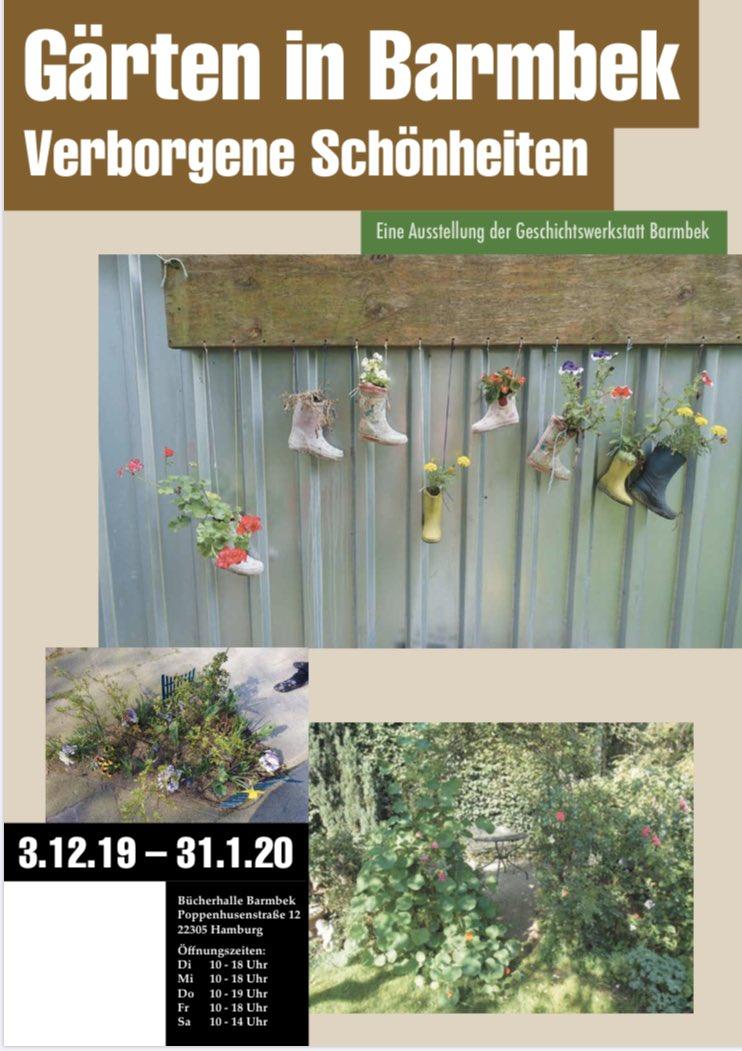 Jetzt schon jetzt Sehnsucht nach dem Sommer? 🌞🌺🌳🌿 Dann empfehle ich die #Ausstellung Gärten in Barmbek der Geschichtswerkstatt in der #Bücherhalle #Barmbek. Weil #Stadtgrün und grüne Oasen wichtig sind! 👉🏼http://www.geschichtswerkstatt-barmbek.de/ #geschichtswerkstatt @Buecherhallen