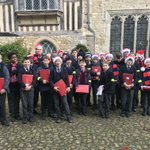 A chilly morning for our Chapel Choir who were invited to sing in the courtyard @NTIghthamMote the promise of hot chocolate kept them warm! A magical experience in a beautiful venue, the audience of visitors & parents enjoyed the performance. Thanks for their support & lifts.