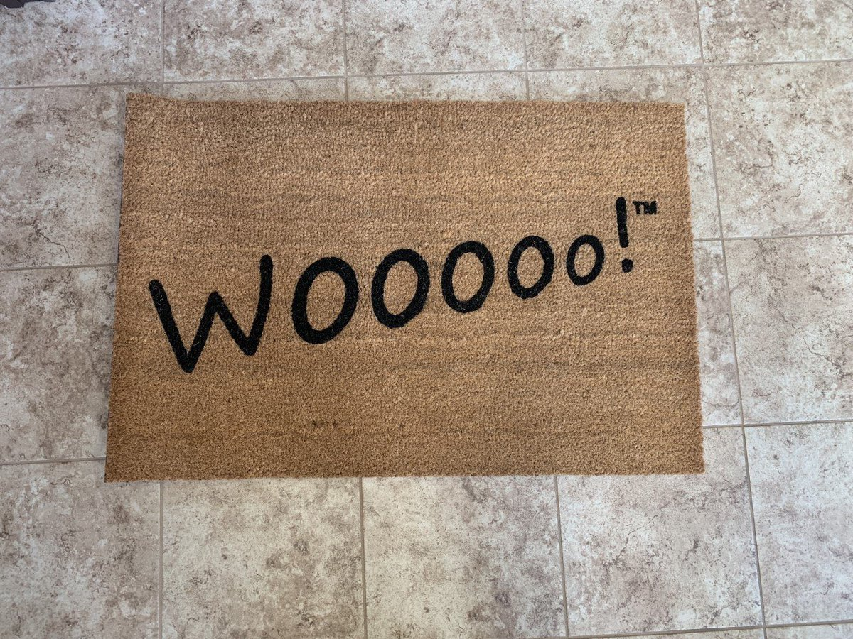 The Talk Of The Town Has Been The WOOOOO Door Mats! They Are Available Exclusively At http://RicFlairShop.com  In The WOOOOO Work Collection! There Are Two Different Size Options! WOOOOO!