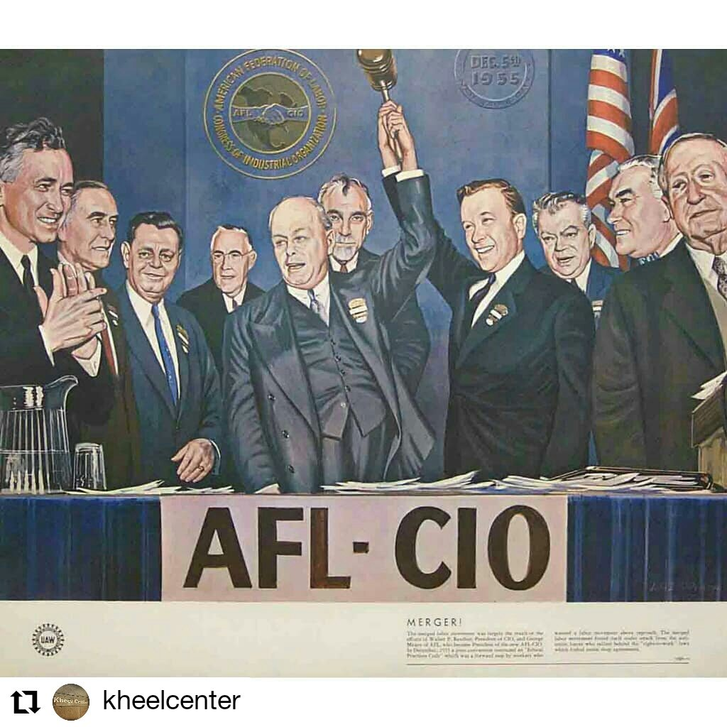 #OnThisDay marks the anniversary of the merger of the American Federation of Labor (#AFL) and the Congress of Industrial Organizations (#CIO) on December 5, 1955! #KheelCenter #CornellILR #Cornell #laborhistory #labormovement #aflcio<br>http://pic.twitter.com/dRboUZ7y4A – à New York