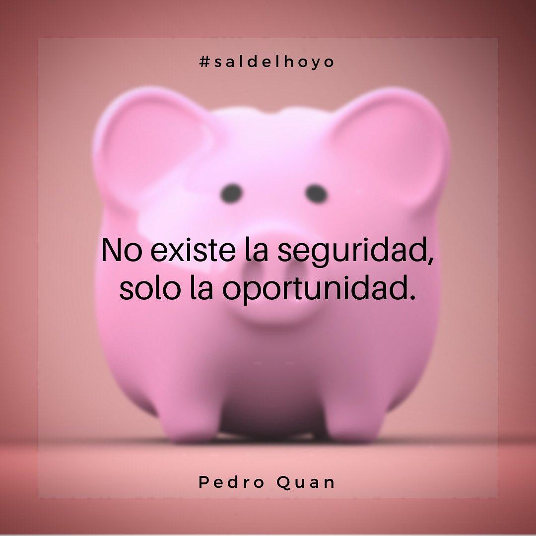 No existe la seguridad, solo la oportunidad. #saldelhoyo #coachingpsicologico #psicologia #motivacion #guatemala #mexico #monterrey