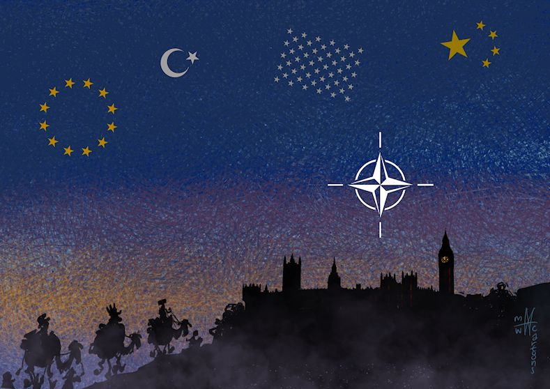 A bright #star despite the rows? #NATO #OTAN #NAVO @NATO @Nato2019 #london #usa #china #turkey #europeanunion @CartooningPeace @EU_Commission @cartoonmovement @Europarl_NL @NATO @NATOsummits #natosummit  @foreignoffice  @Joop_nl #unitedkingdom #france #germany @UKParliament<br>http://pic.twitter.com/FxlNPx0Hso