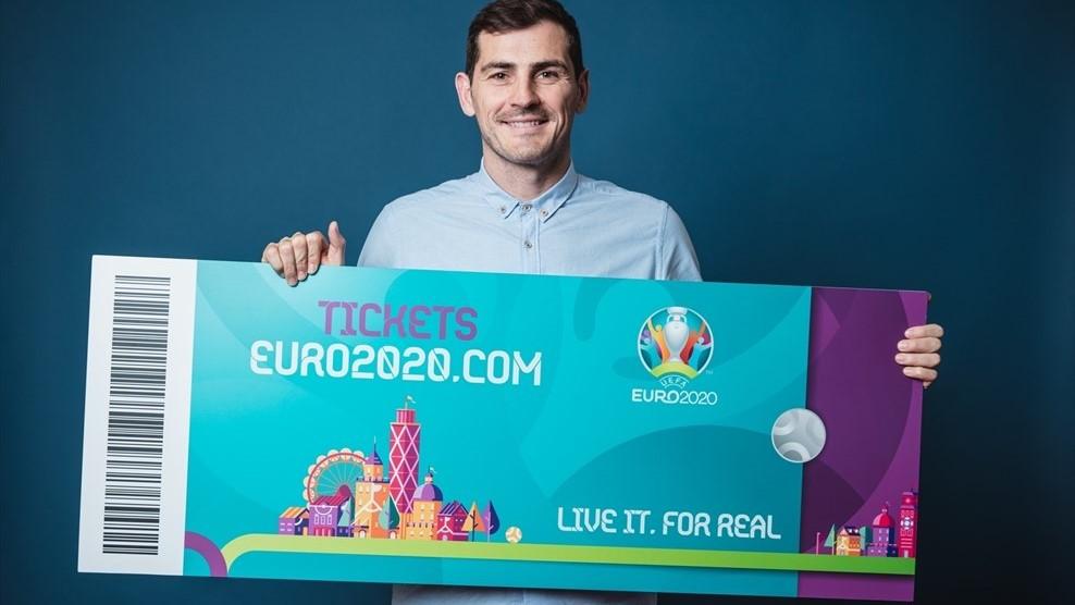 Икер Касильяс и билет на Чемпионат Европы 2020