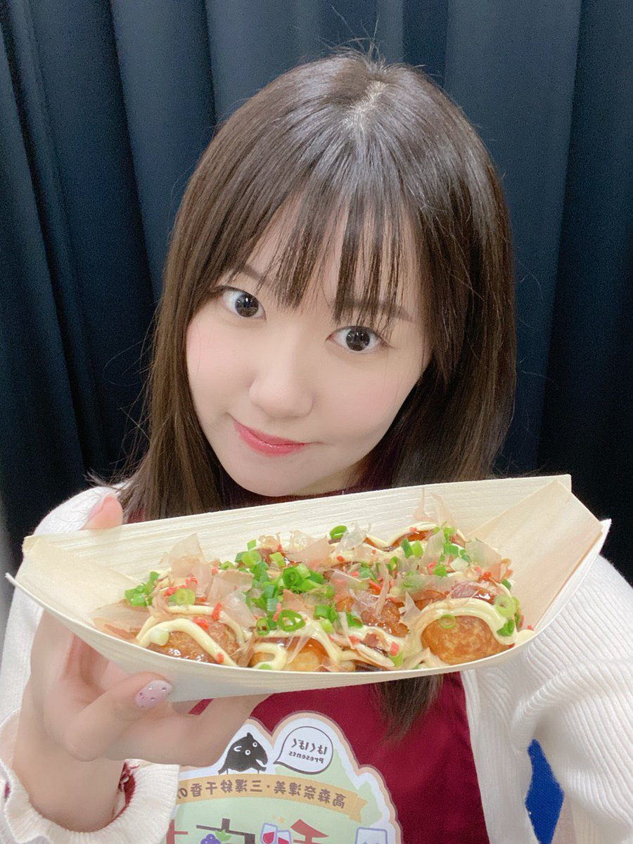たこ焼き、食べる?収録楽しかったな〜😆✨(三澤)#梨ラジ #はくばく
