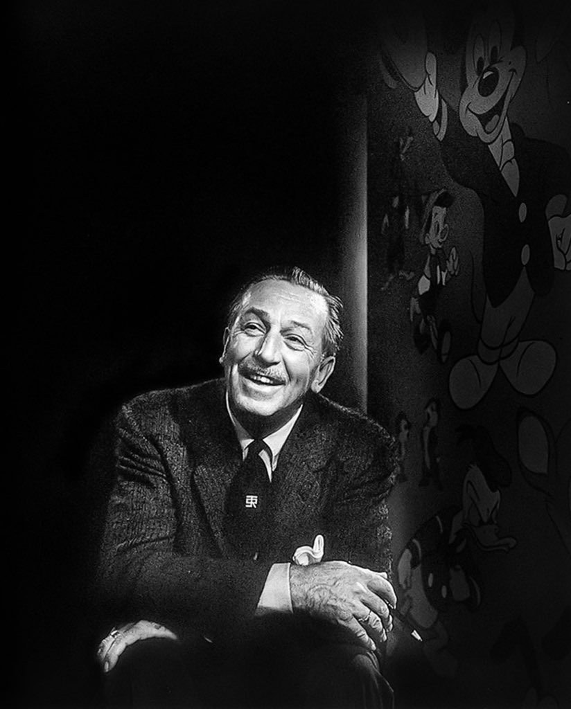 """Walt Disney was born on this day, December 5th, 1901. He said """"It all started with a mouse."""" Today @Disney, we remind ourselves it all started with this man!"""