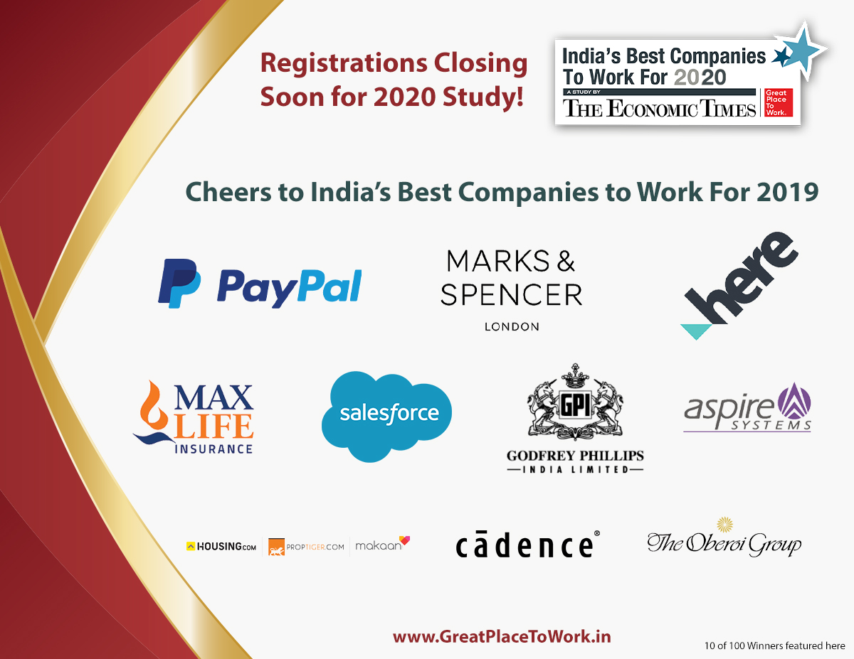 Best Companies To Work For 2020.Great Place To Work Gptw India Twitter