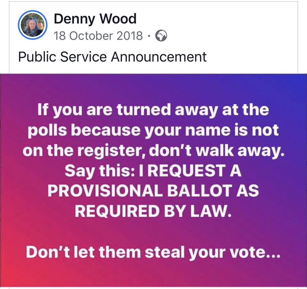 #Voting #GeneralElection2019 Know your rights!