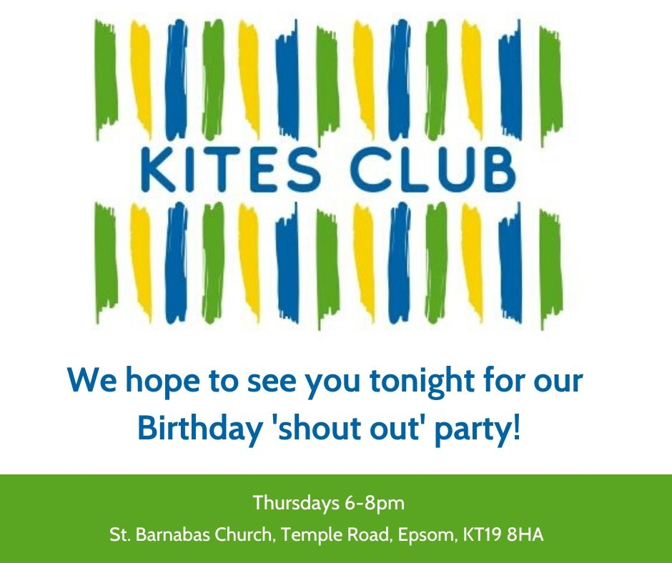Tonight @SunnybankEpsom  Kites Club we'll be celebrating December Birthdays at Birthday Shout out. Our lovely trustee Ciara aka @ciarale01  will be doing a talk about #Voting and will give  lots of helpful information!   We hope to see you there!   #LearningDisability #KitesCub