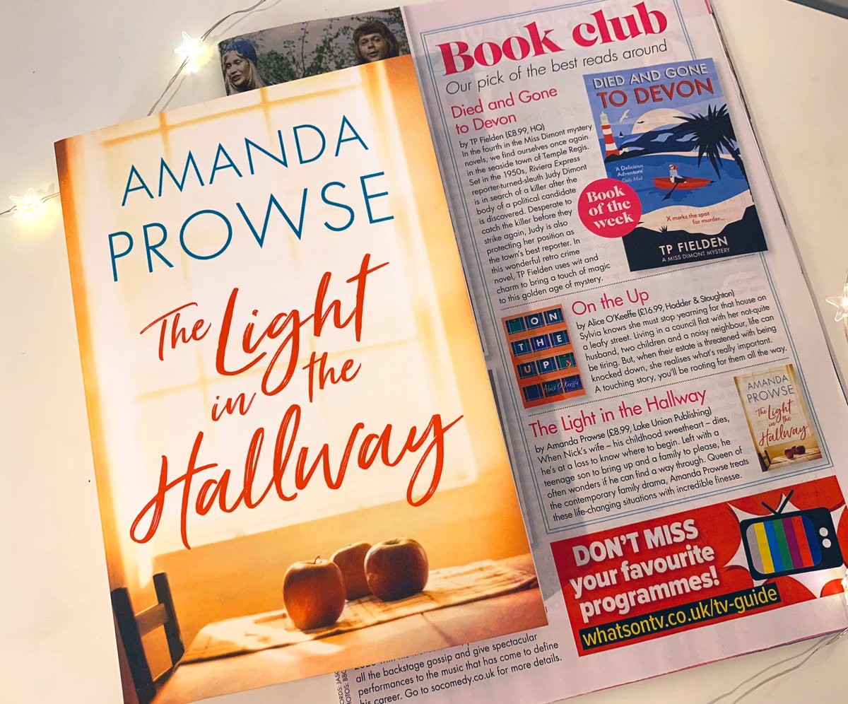 """""""Amanda Prowse treats these life-changing situations with incredible finesse."""" Thank you @zoeannewest for this brilliant review of #TheLightintheHallway in @WomansWeeklyMag ✨"""