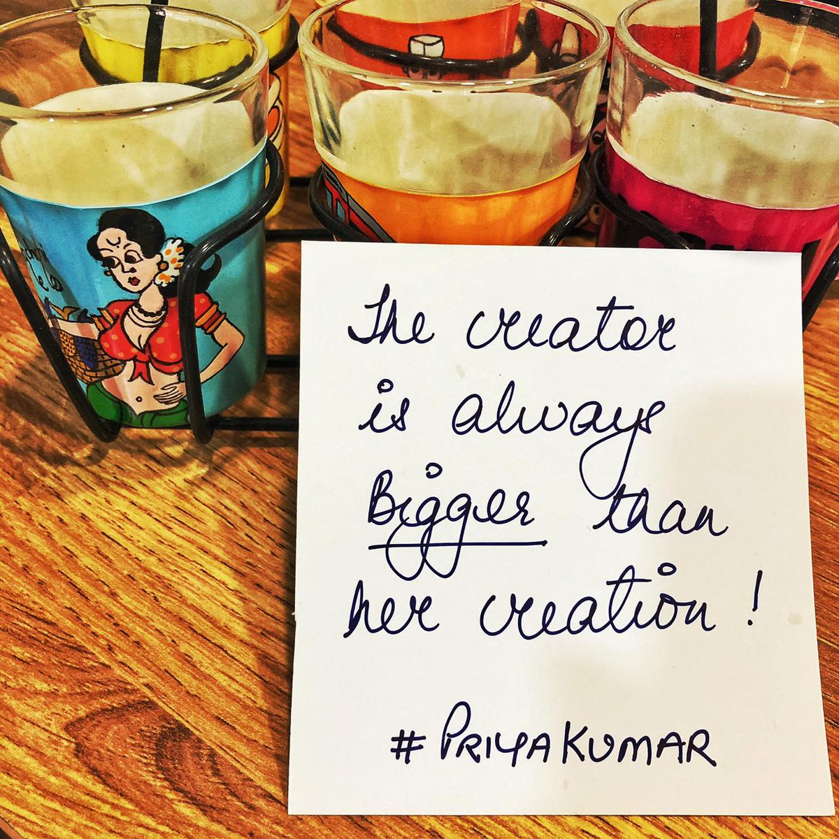 The creator is always bigger than her creation. If you are at the source, you are abundance. Knowing that you are at the centre of what you do, is a position of great power. A person who is centred, at the source of all she is & does, is a person of immense power. #FridayFeeling <br>http://pic.twitter.com/k2Rs7ZZ8wL