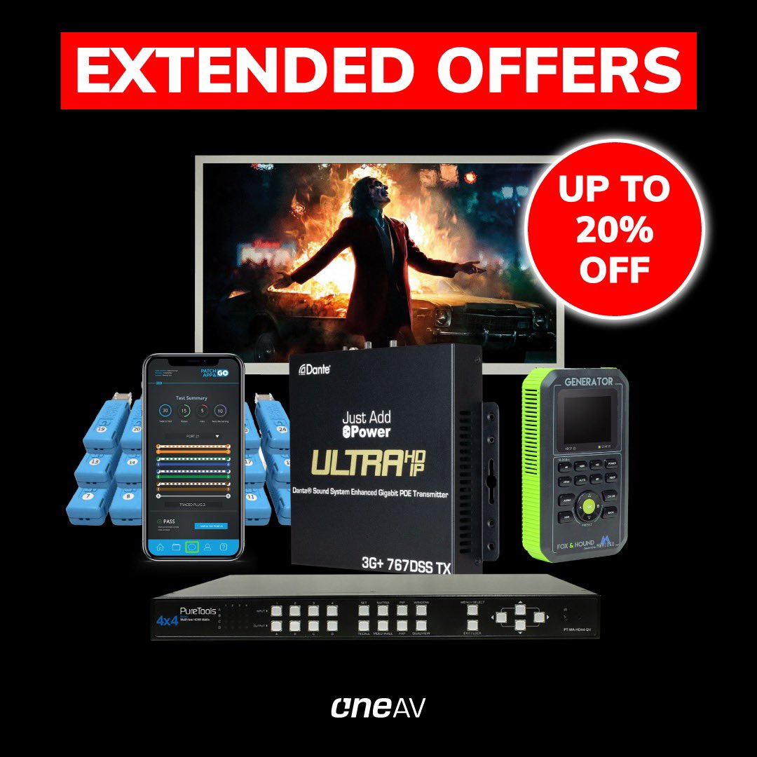 Don't forget that we've got extended #blackfriday and #cybermonday offers! Until the end of the week! Speak to your account manager!  #customintegration #custominstall #homeautomation #distribution #technology #audiovisual #hdbaset #hdmi #oneav #video #hdbt #smarthomepic.twitter.com/bjMYmm83jd