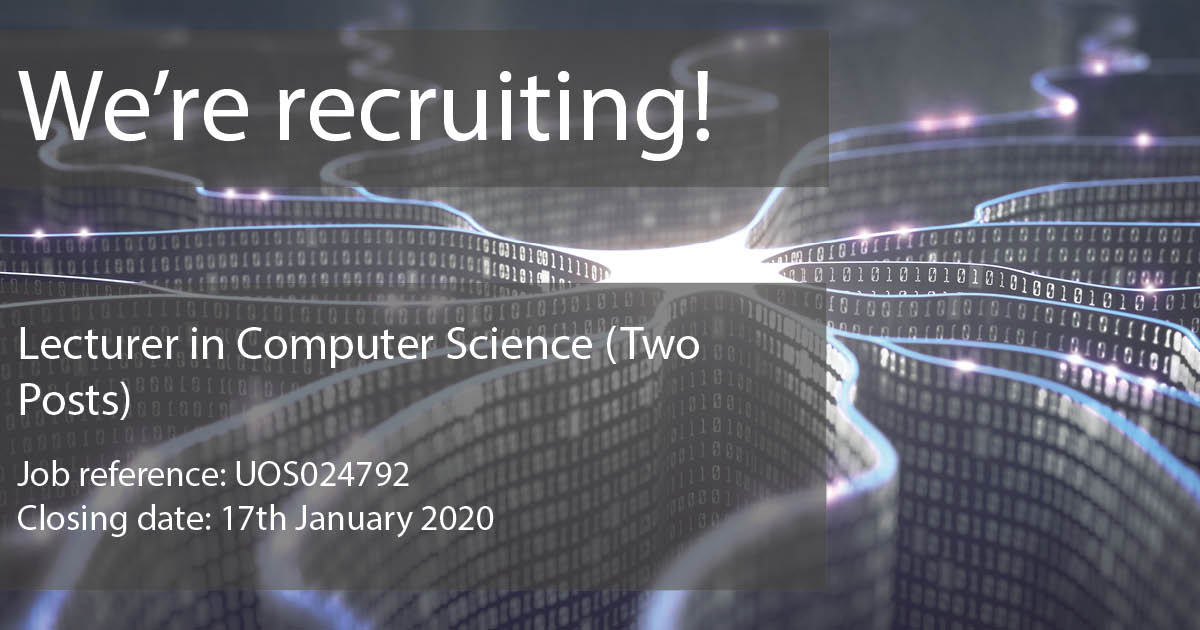 Jobs | Computer Science | The University of Sheffield