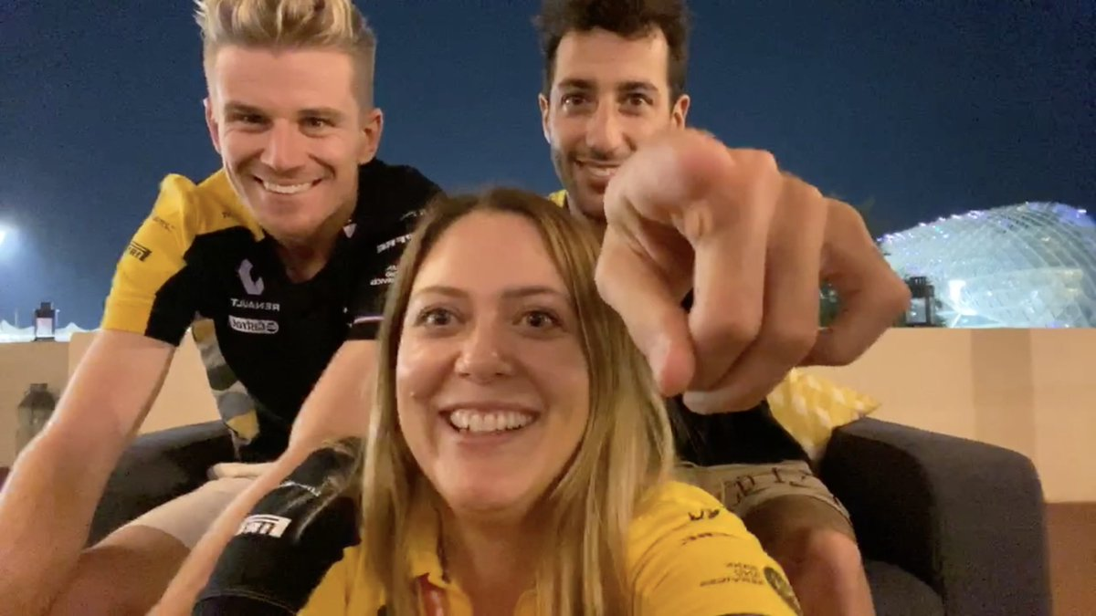 ICYMI: Our last live chat of the season was with @HulkHulkenberg & @danielricciardo! 🙌  If you've not seen it yet, you'll want to watch it... 😉 👉 https://t.co/uxrrVeOOlJ  #RSspirit #AbuDhabiGP https://t.co/MuGyEA3pnF