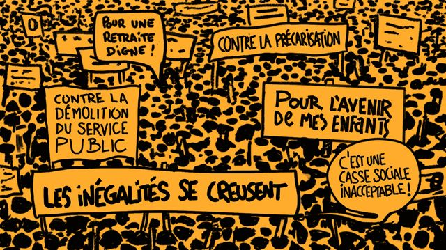 Massive strike in France against the worst reform ever of the pension system (but more broady against the neoliberal systematic destruction of our public services). A day to raise our heads in dignity ! Enough of this government, who govern only for the haves. #grevedu5decembre <br>http://pic.twitter.com/ESvFYAaY5I