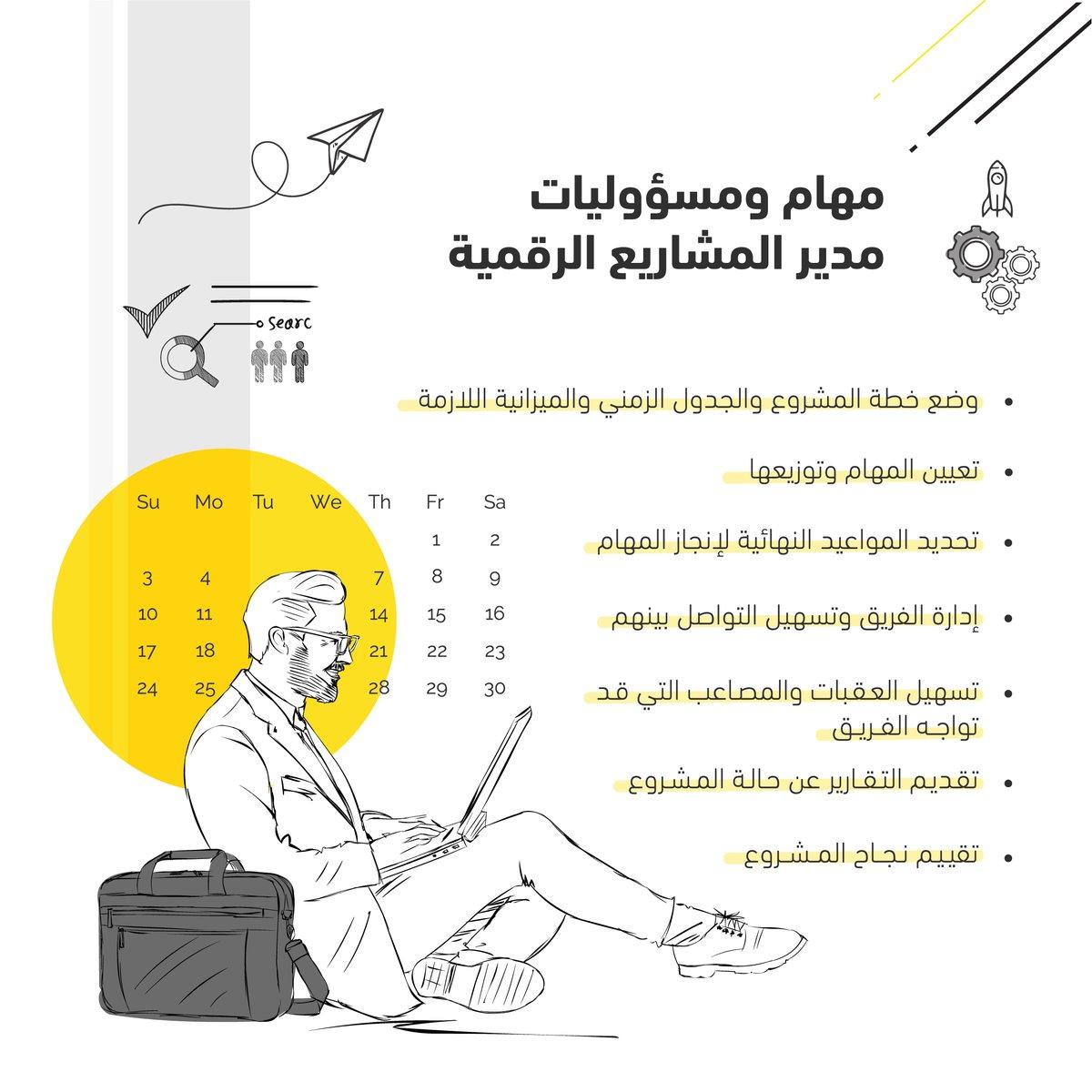 Pixel Arabia On Twitter دور مدير المشاريع الرقمية