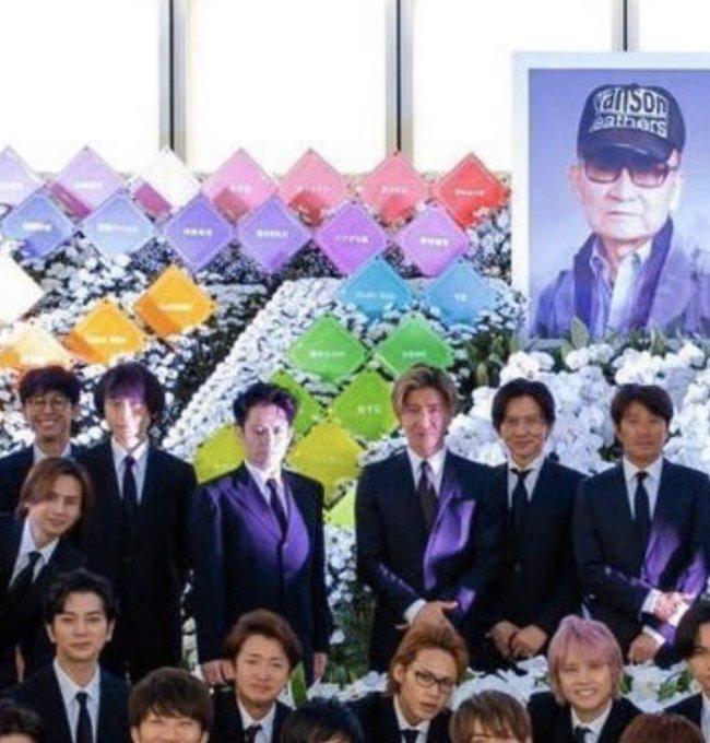 ジャニーさん 家族葬 集合写真