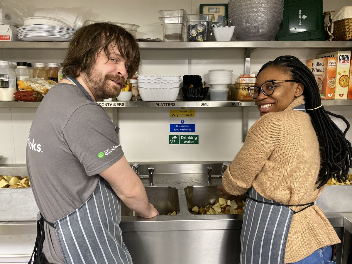 As part of our #SeasonOfGiving, some of our team took over the @PassageCharity kitchen, preparing a meal for the 150 homeless that visit every day #WeCare