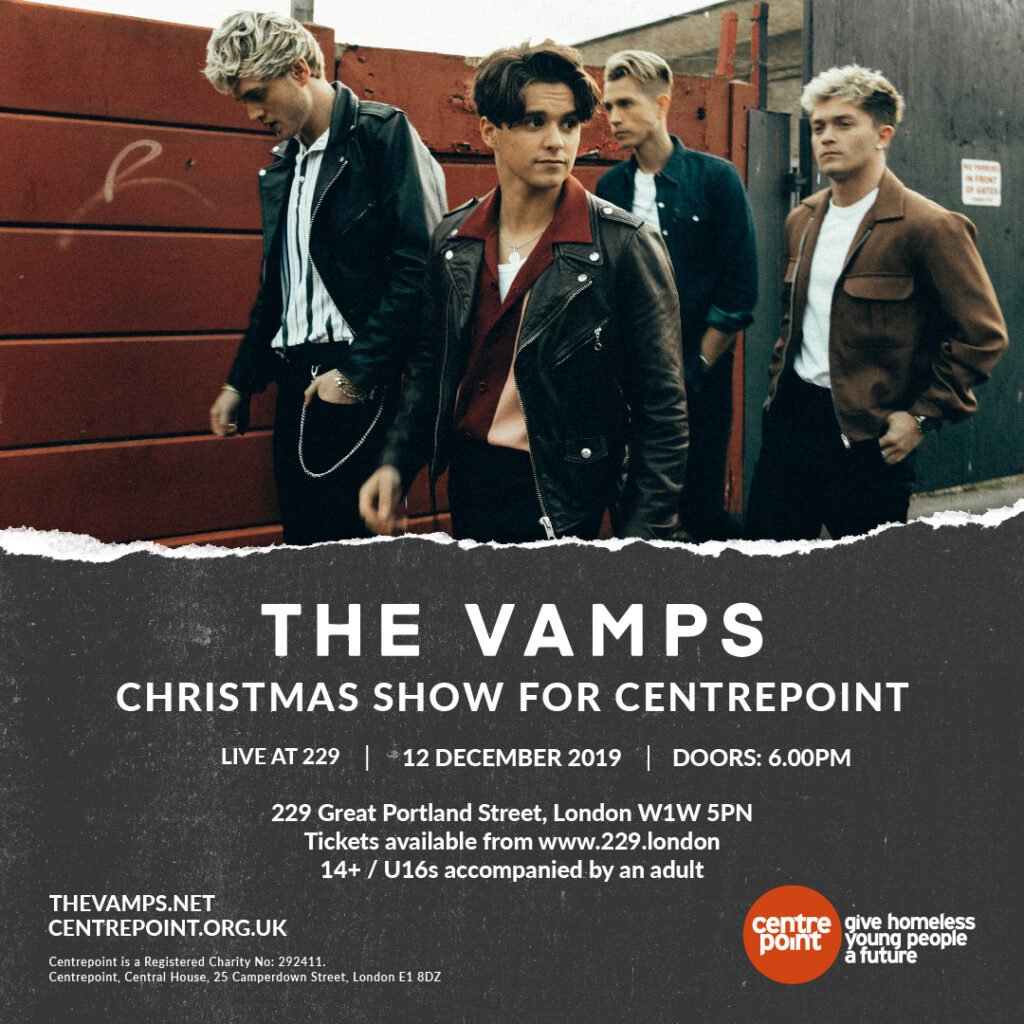 ⚠️SELLOUT WARNING! There are only a few tickets remaining to see @TheVampsband Christmas show next week!🎟️ Get yours here: 229.london/event/the-vamp…