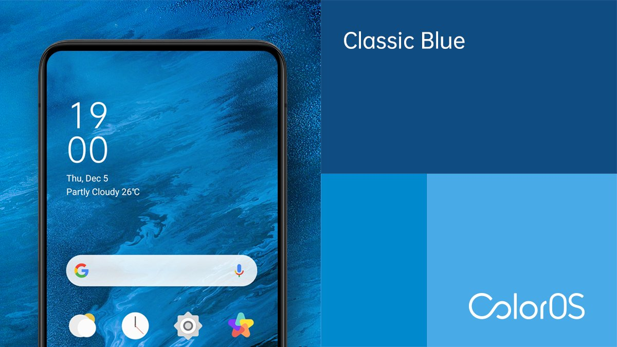 Classic Blue Wallpaper Oppo