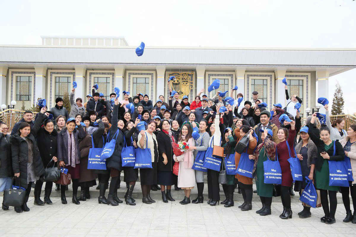 As volunteers Day celebration continues in #Nukus, we're saluting those who rendered time and effort to further develop the welfare of their communities, environment, and their people!   #VolunteersDay #IVD2019pic.twitter.com/E4EdzxjV2w