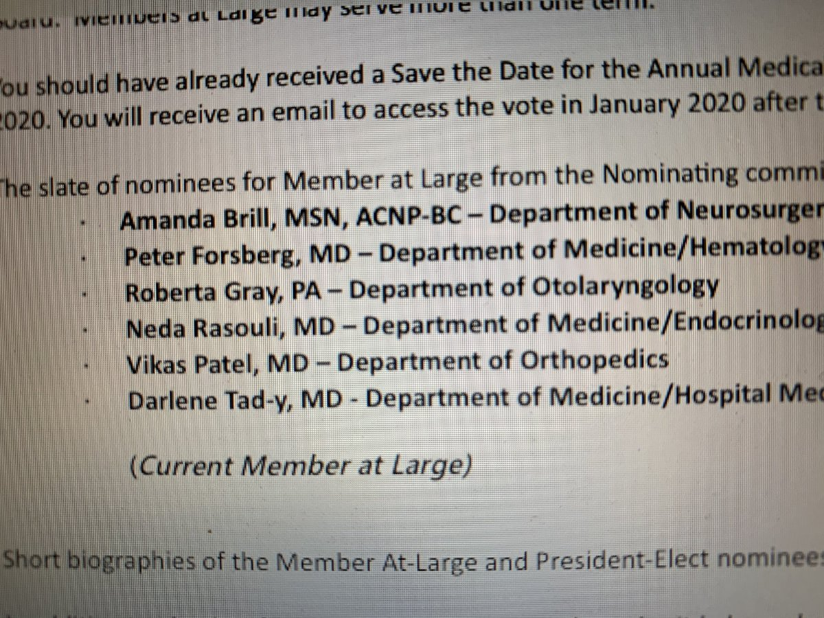 Exciting! We have 2 APPs up for election to the UCH Medical Board (Med exect)! Amanda NP  and Robie Gray PA-C. What a collegial provider culture where 2 of the 6 nominees are APPs! ⁦@AANP_NEWS⁩ ⁦@AAPAorg⁩ ⁦@UnivColoradoAPP⁩ ⁦@pulmnp⁩