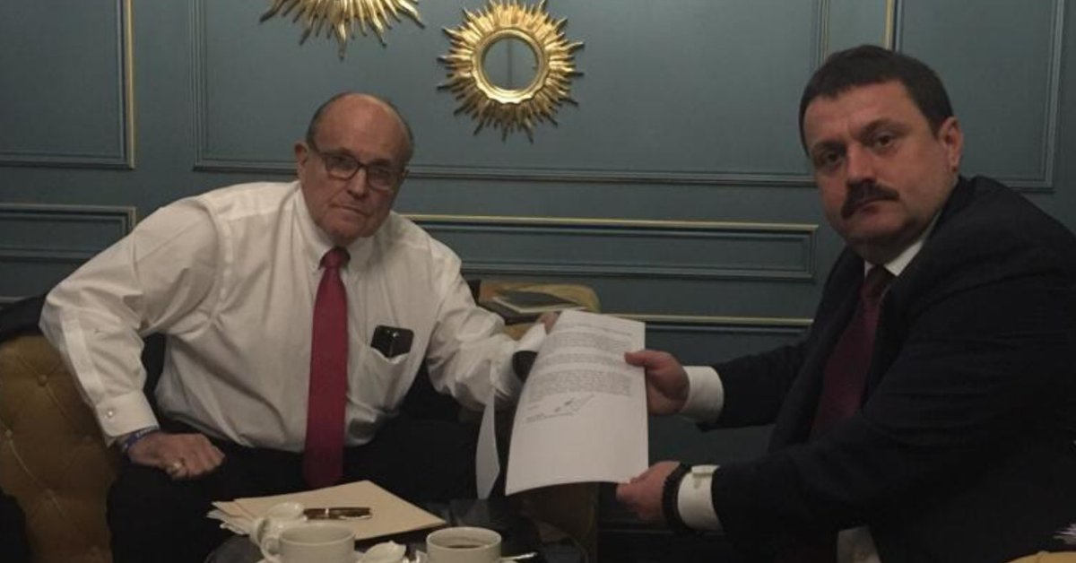 Rudy Giuliani has met with an MP formerly from the pro-Russian Party of the Regions in Kyiv.