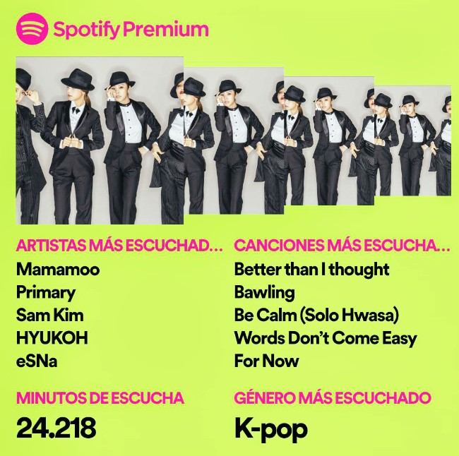 This my year and you know... the summer are only 2months! The cold built my flow down but   #iLoveMusic, #MooMoo @RBW_MAMAMOO #mamamoo #SpotifyAwards  #spotifywrapped