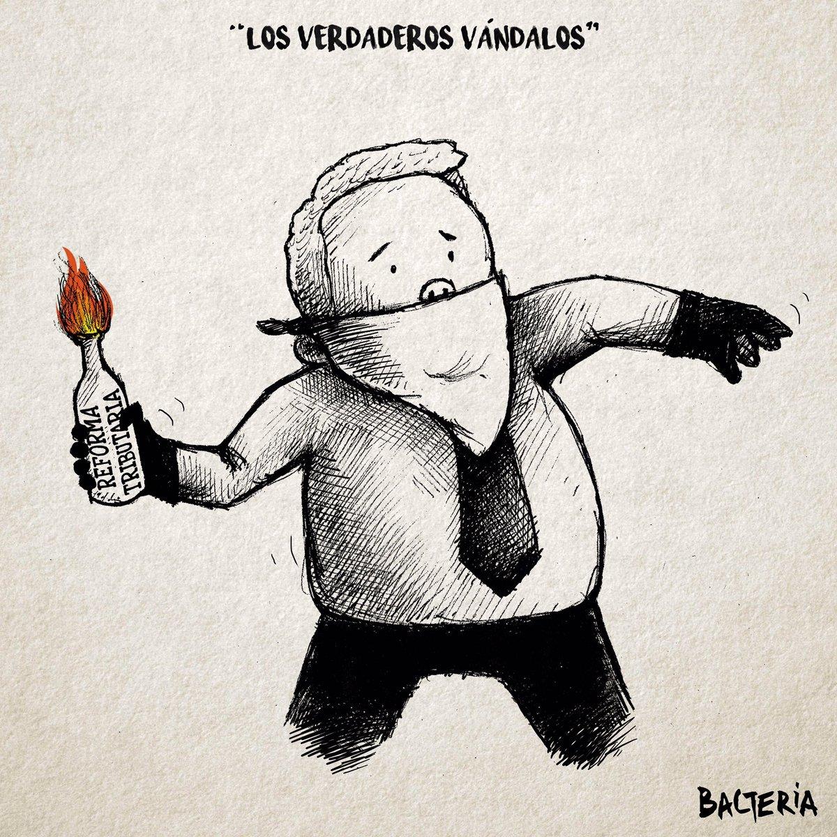 """""""LOS VERDADEROS VÁNDALOS"""" la caricatura del jueves en .@lanuevaprensaco"""