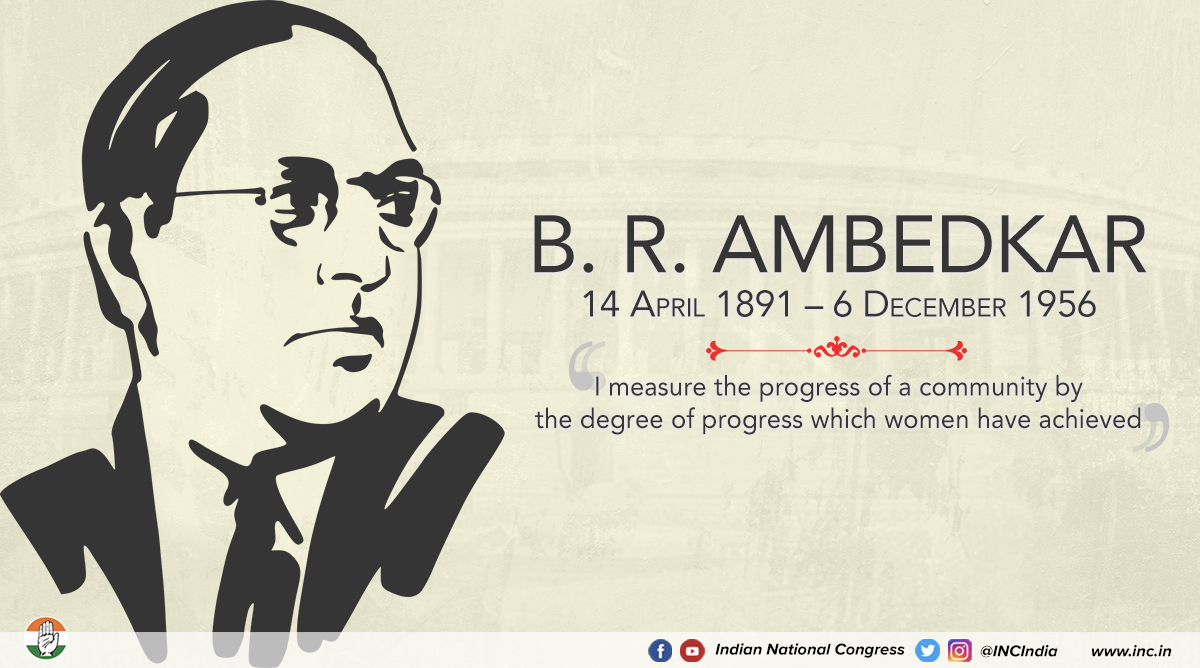 Dr. Ambedkar's fight for justice & equality left behind a legacy that we remember in the form of our Constitution. As we honour him today, we must recall the sacrifices he made so that 1.3bn Indians could enjoy the freedoms we do today. Long live Dr. Ambedkar. <br>http://pic.twitter.com/2TbMqTnc2J