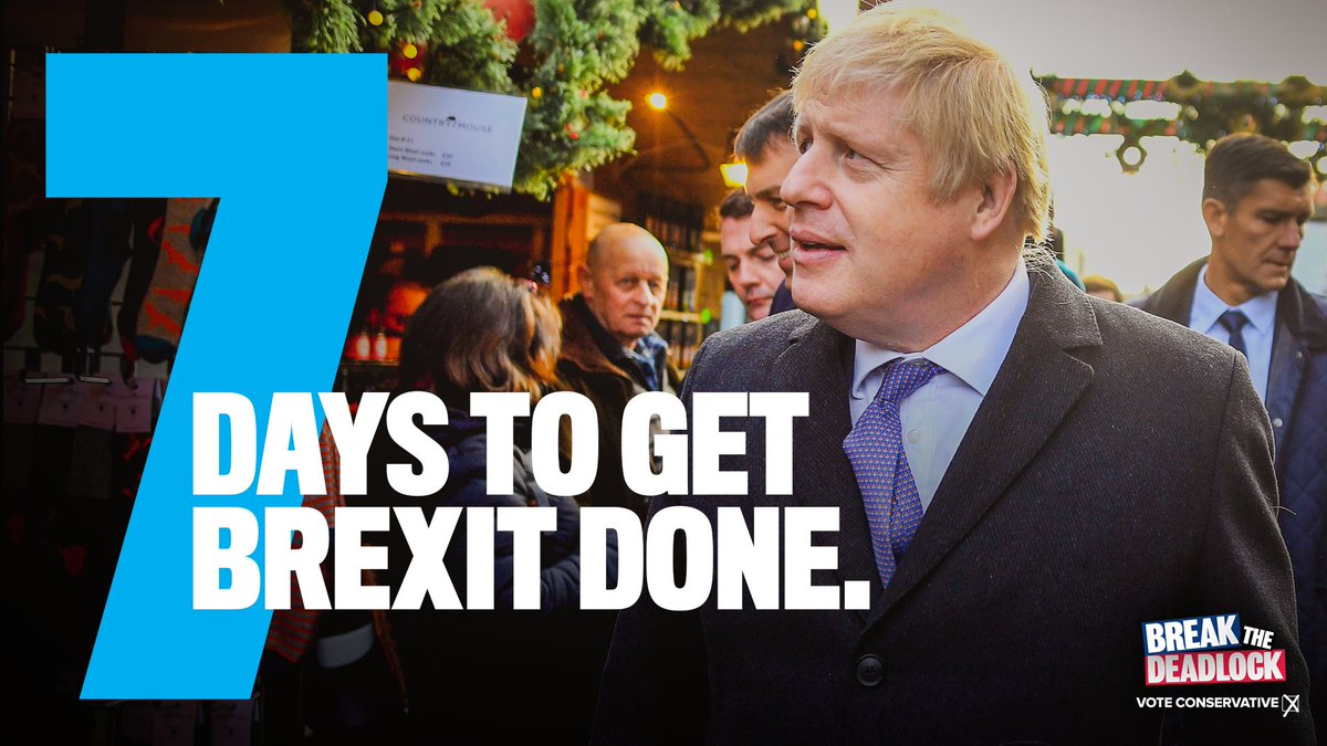 One week to go. Let's get Brexit done.