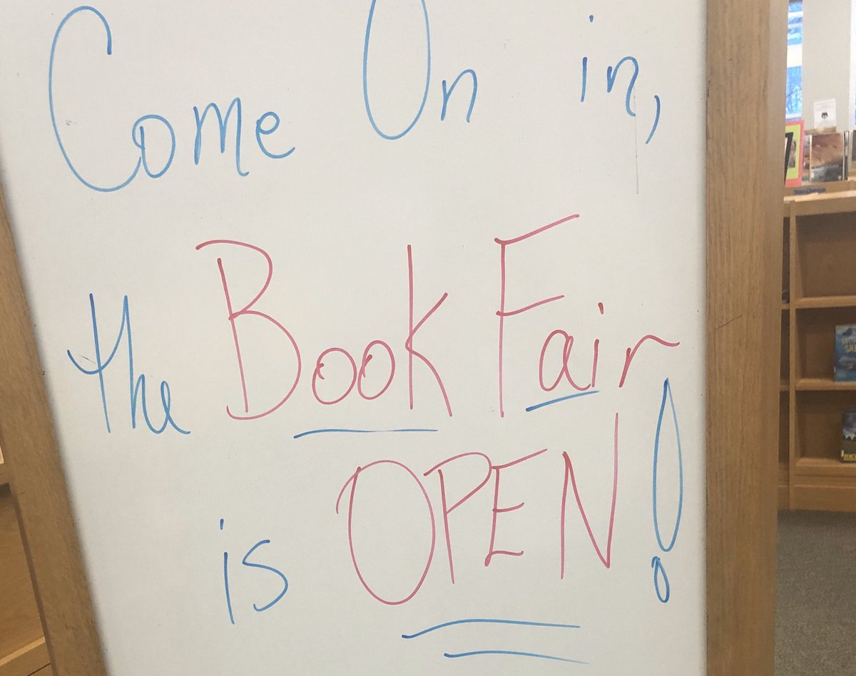 WMS Book Fair is open! Please check out our school's main page for the book fair hours. Thank you <a target='_blank' href='http://twitter.com/wmspta2019'>@wmspta2019</a> for your hard work putting this together. <a target='_blank' href='https://t.co/7GsOJHuSvM'>https://t.co/7GsOJHuSvM</a>