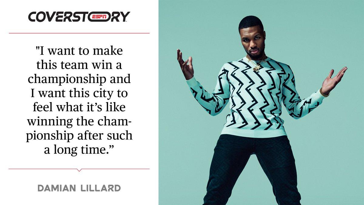 True to Oakland.  True to Portland.  True to himself.   This is @Dame_Lillard ➡️https://es.pn/34Sj1Ld