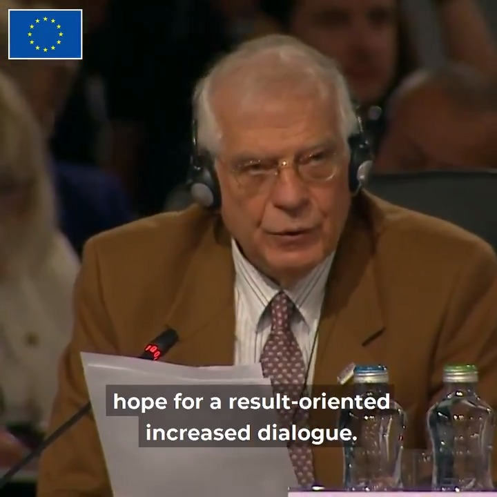 I think we have to welcome the recent positive developments in Ukraine. The upcoming Normandy Four summit brings hope for a result-oriented increased dialogue @JosepBorrellF at the 26th OSCE Ministerial Council @OSCE #OSCEMC19 @EUOSCE