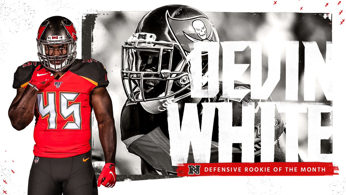 Bucs LB Devin White named NFC Rookie of the Month